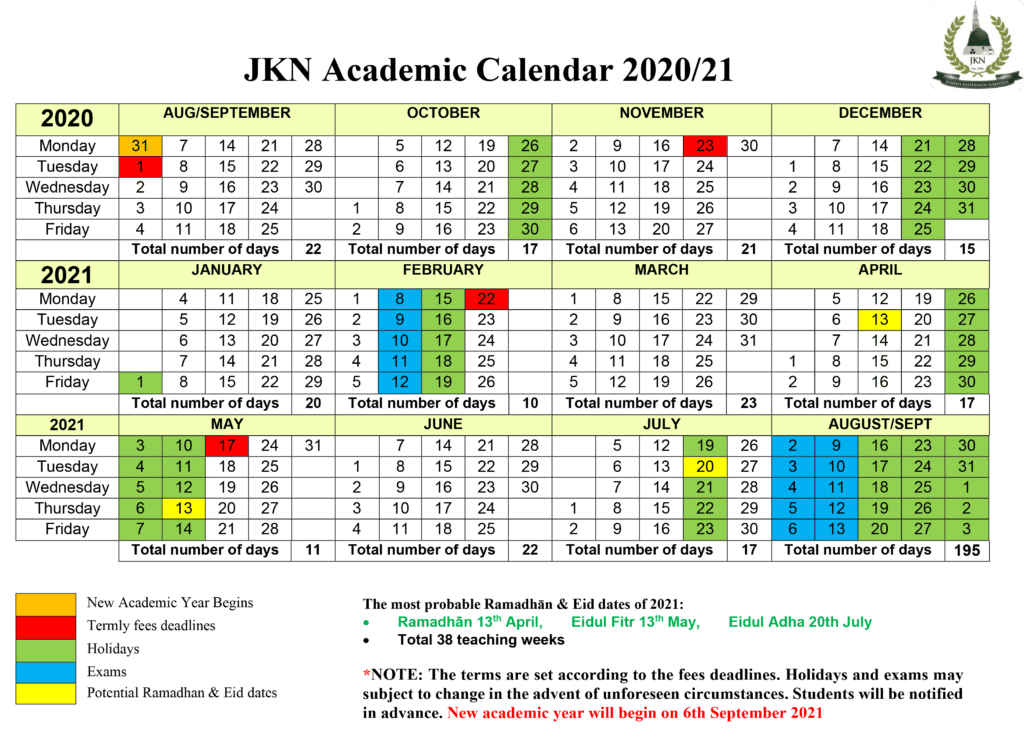 Course Terms & Timetable - JKN Institute